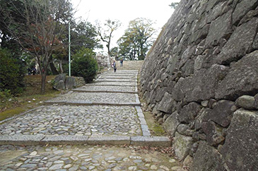 Stone Wall on the Tsutsui Castle Keep Side