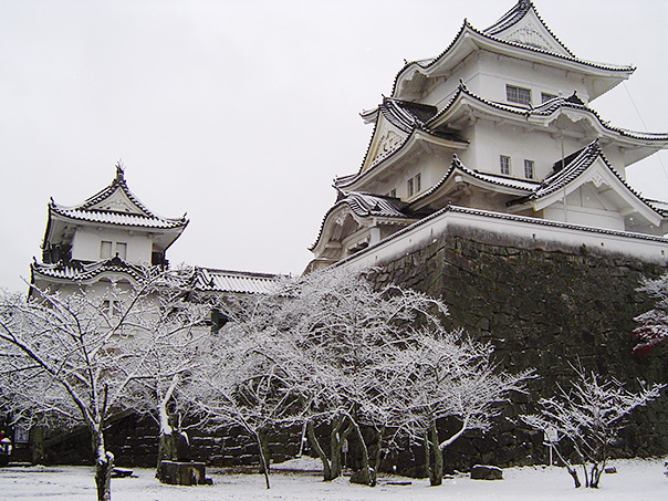 Iga Ueno Castle Keep of the Covered with Snow