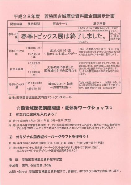 20160819若狭国吉城歴史資料館 (2)